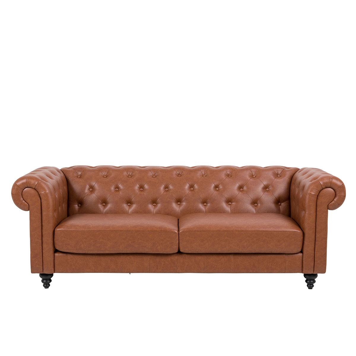 Sofa Selin braun 3-Sitzer