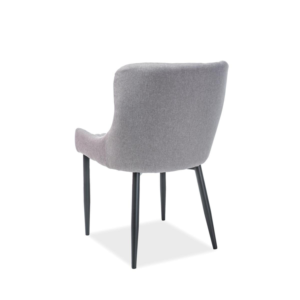 Stuhl Gia Stoff schwarz/grau