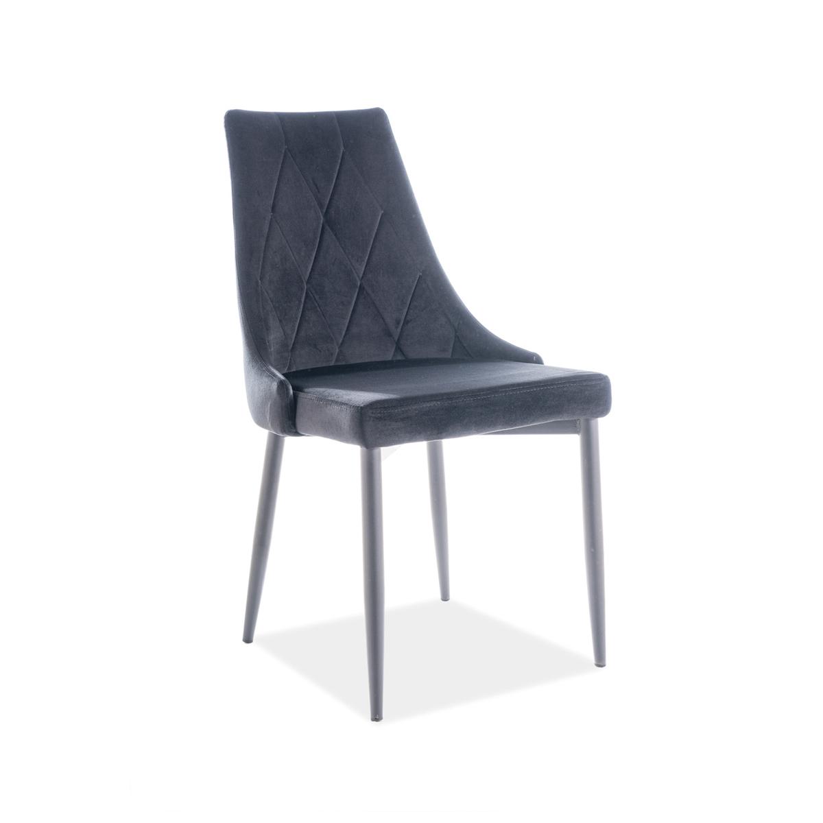 Stuhl Celine Samt schwarz
