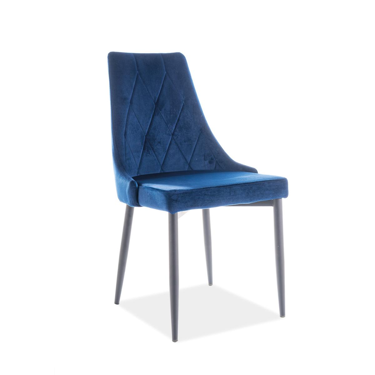 Stuhl Celine Samt blau