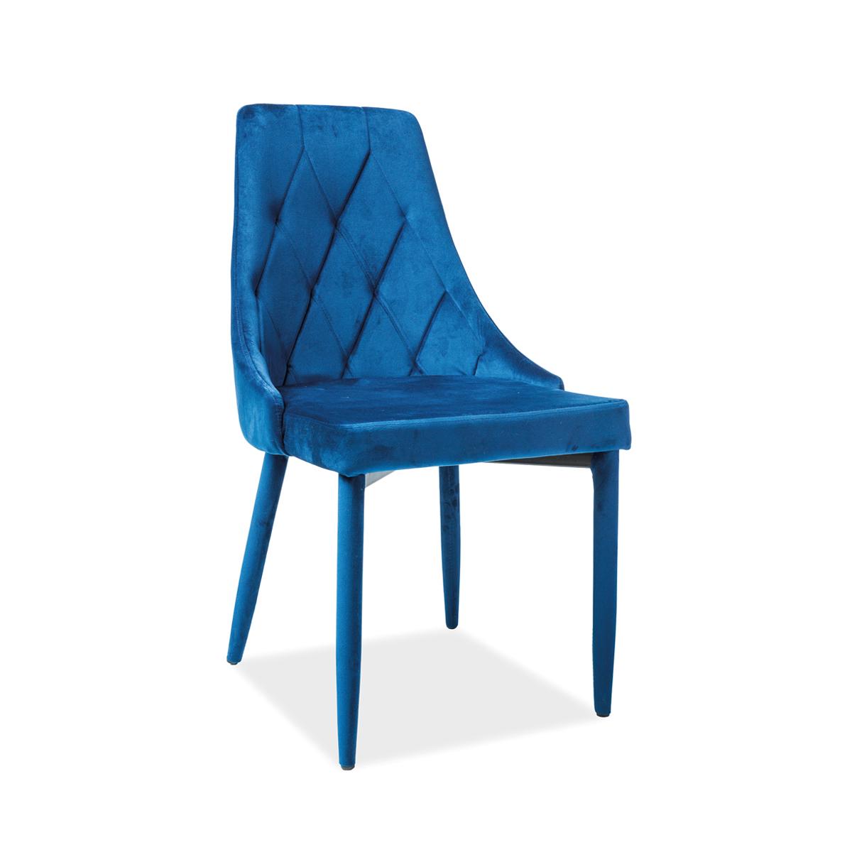 Stuhl Celine II Samt blau