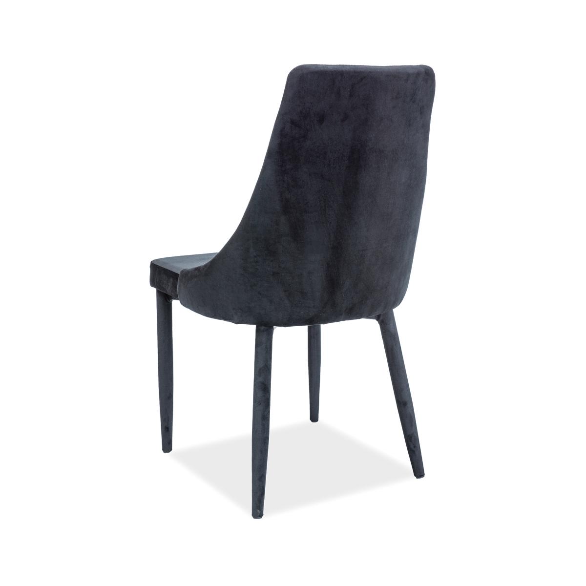 Stuhl Celine II Samt schwarz