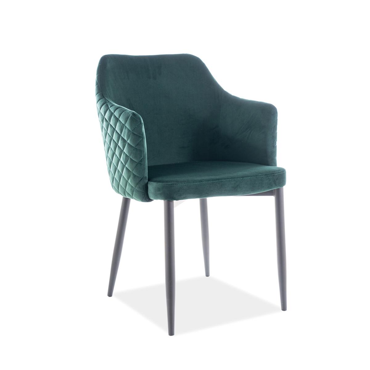 Stuhl Chiara Samt grün