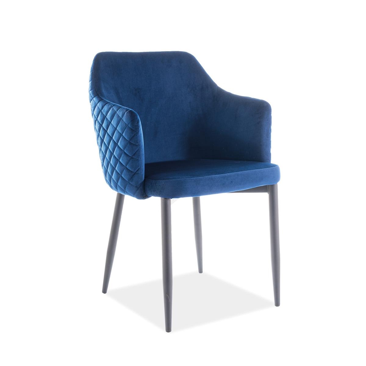Stuhl Chiara Samt blau