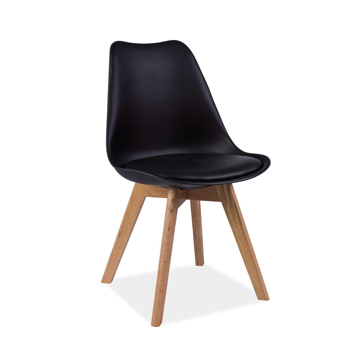 Stuhl Fenja Eiche schwarz