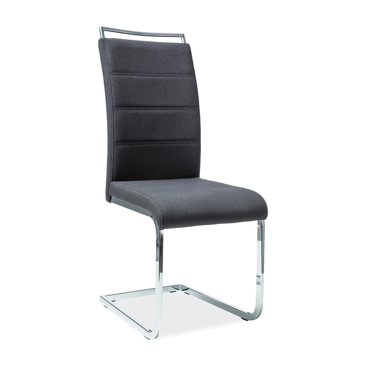 Stuhl Xenia Stoff schwarz