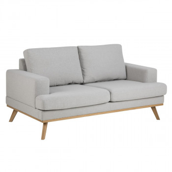 Sofa Ashley grau/braun 2-Sitzer