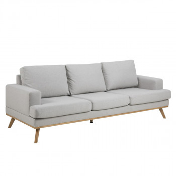 Sofa Ashley grau/braun 3-Sitzer