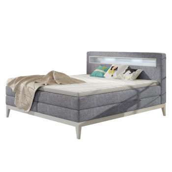 Boxspringbett Tally grau